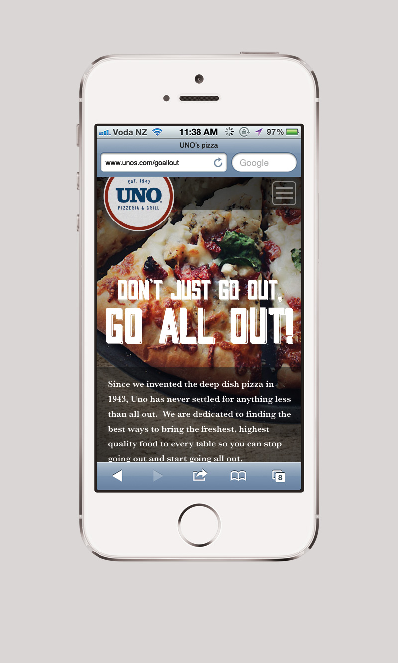 Uno Landing Page